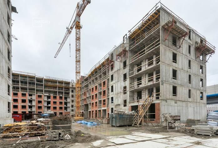 Закончены работы по монтажу стен и плит перекрытий 5-7 этажей.