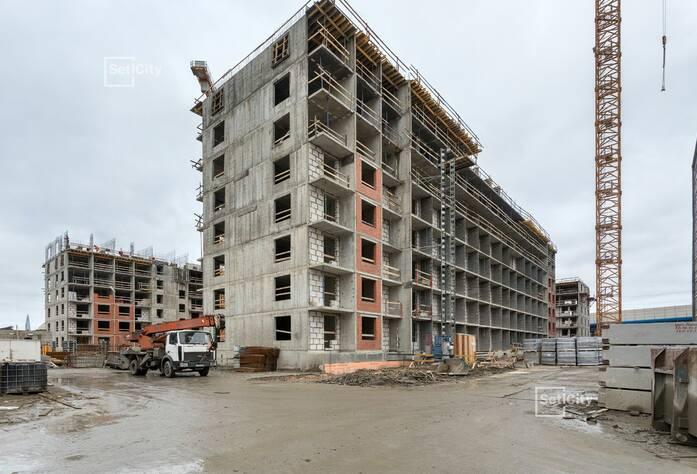 Закончены работы по монтажу стен и плит перекрытий 6-8 этажей.