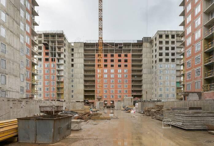 Закончены работы по возведению монолитного каркаса здания.