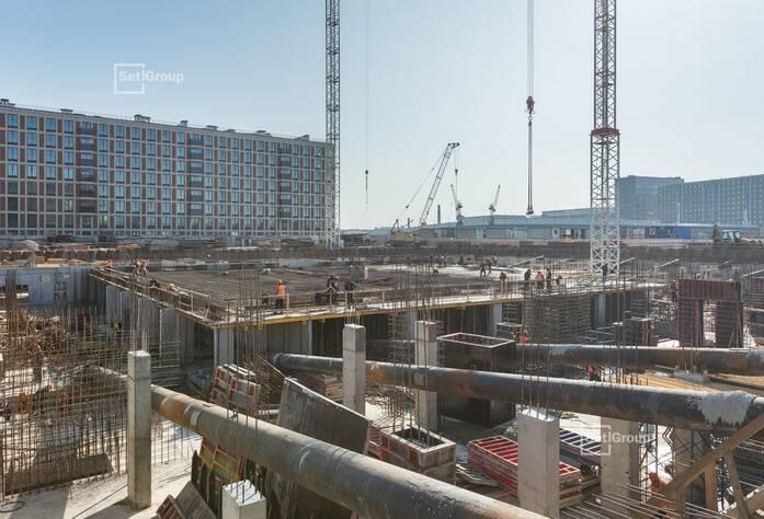 Завершены работы по устройству основания из щебня и бетонной подготовки.
