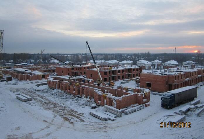 Строительство ЖК «Александровский» (март 2013 г.)