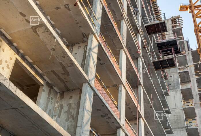Завершены работы по бетонированию плитных ростверков.
