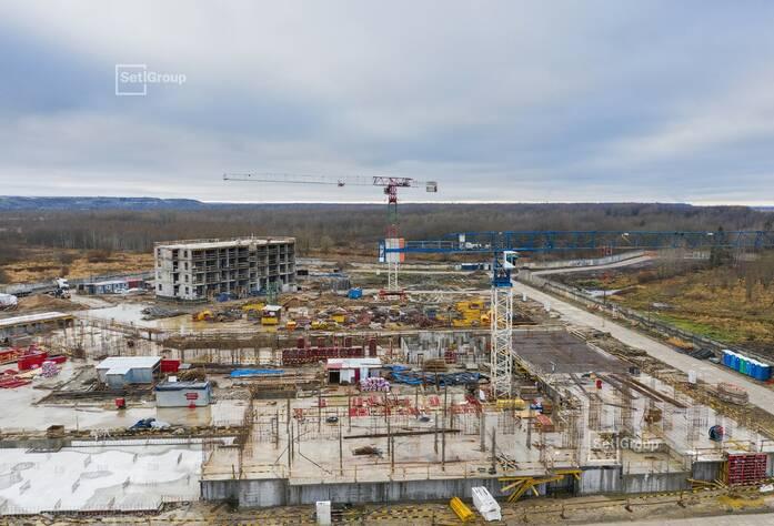 Производятся работы по проекту организации строительства, готовность 85%.