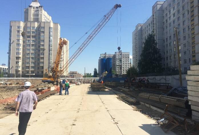 Завершены работы по монтажу систем временного электроснабжения и электроосвещения строительной площадки.