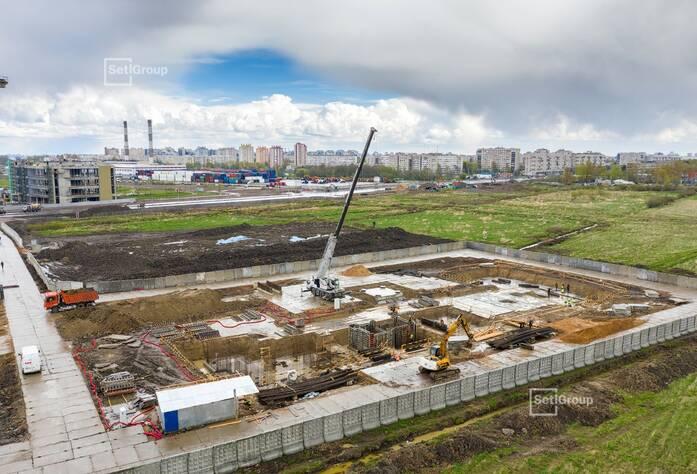 Произведены работы по устройству строительной площадки.