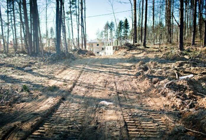 Строительство ЖК «Черничная поляна» II очередь (май 2013)