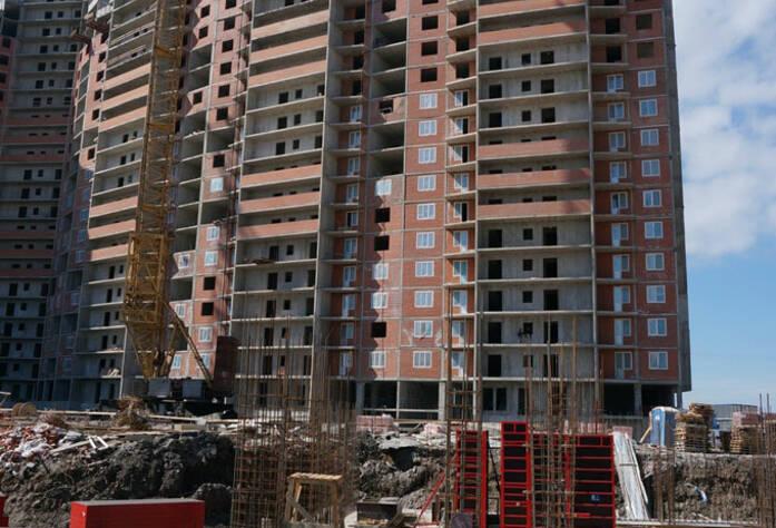 Строительство жилого комплекса «Ленинский парк» участок 6 секции 1-3 (май 2013)