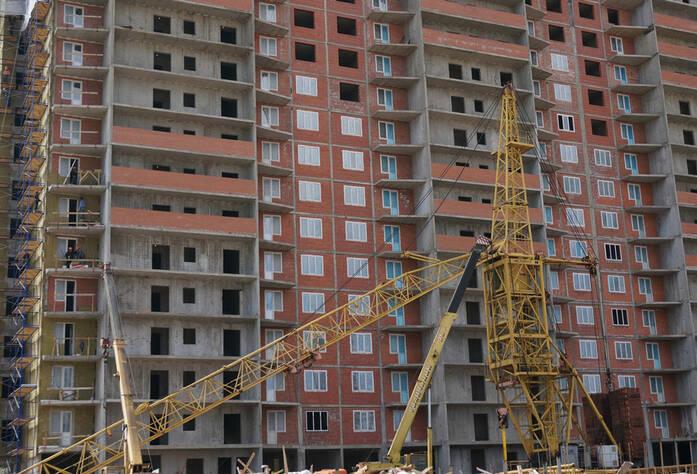 Строительство жилого комплекса «Ленинский парк» участок 6 секции 8-9 (май 2013)