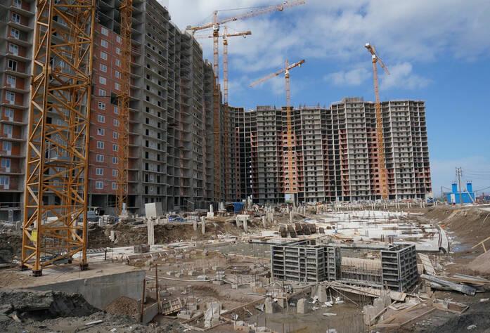 Строительство жилого комплекса «Ленинский парк» участок 7 корпус Б (май 2013)