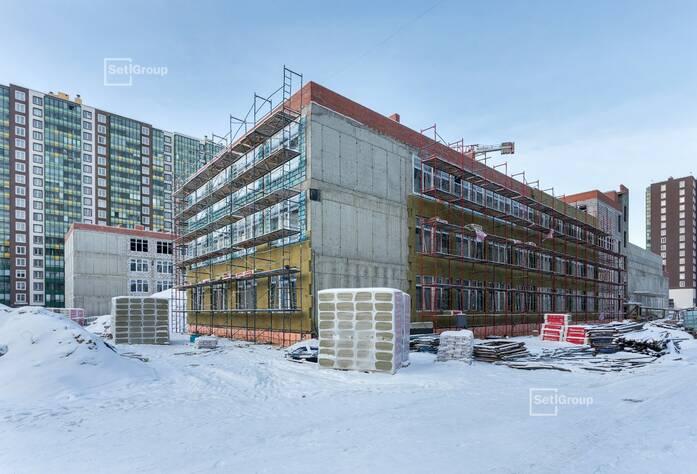 Близки к окончанию работы по устройству монолитных конструкций надземной части здания 3 и 4 блоков на уровне кровли, готовность 97%.