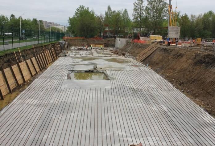 Строительство ЖК «Сандэй» (май 2013 г.)