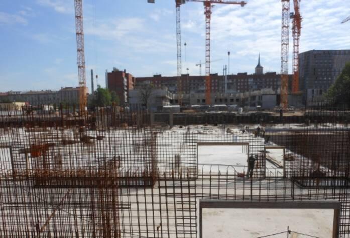Строительство ЖК «Времена года» (май 2013 г.)