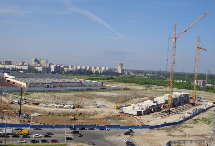 Место строительства  жилого дома «Паркола» (от застройщика 09.07.2013 г.)