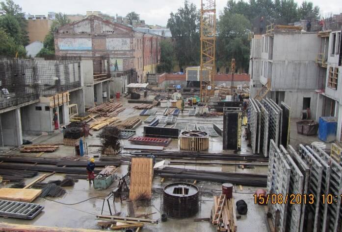 Строительство ЖК «На Гребецкой» (август 2013)