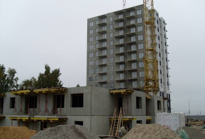 Строительство ЖК «Новоселье: городские кварталы» (сентябрь 2013 г.)