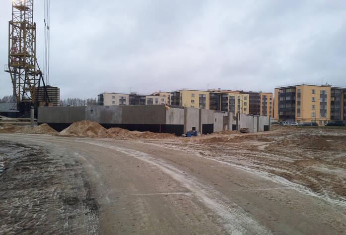 Строительство ЖК Gröna Lund (ноябрь 2013)
