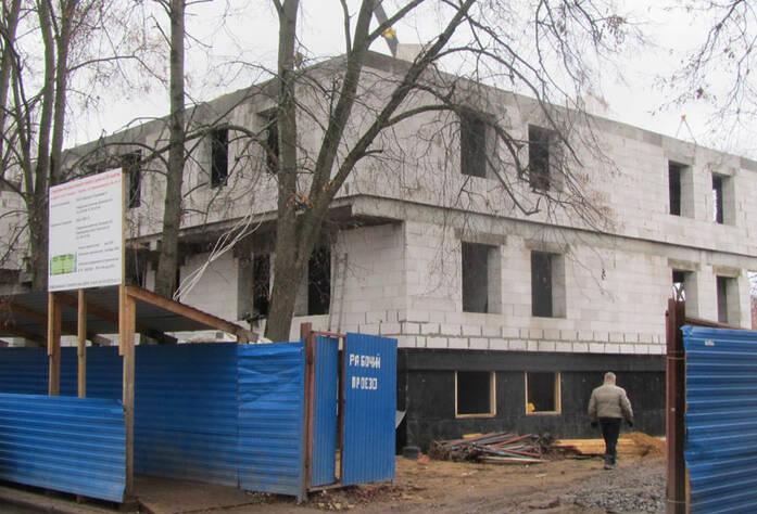 Ход строительства ЖК в Павловске (ноябрь 2013)