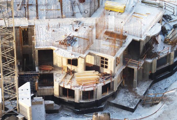 Строительство ЖК «Бумеранг» (декабрь 2013)