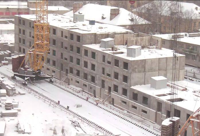 Строительство ЖК «Павловский» (январь 2013)