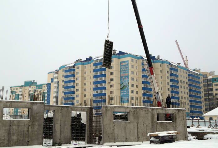 Строительство ЖК «Центральный» (январь 2013)