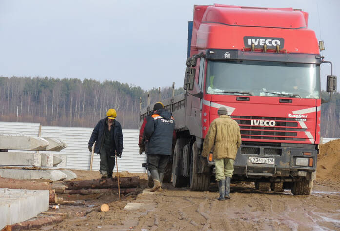 Ход строительства ЖК «Ленинградская перспектива» (10.03.2014 г.)