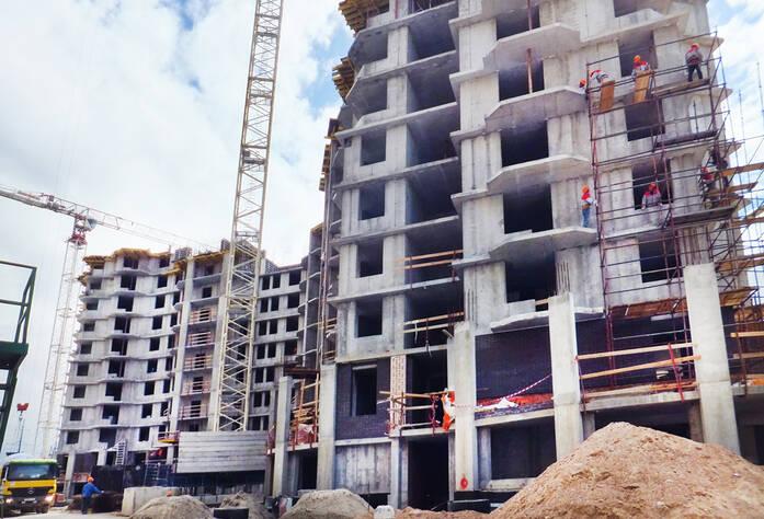 Строительство ЖК «Бумеранг» (26.06.2014)