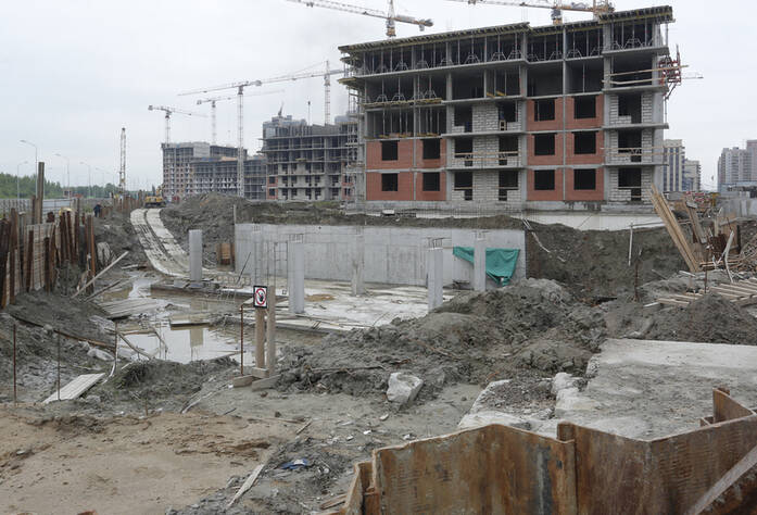 Строительная площадка ЖК «More» очередь 3 участок 30 (01.07.2014)