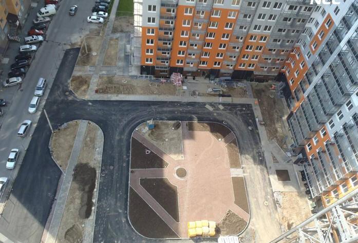 Строительство жилого комплекса «Эланд» 2 очередь (июль 2014)