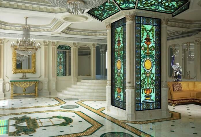 Визуализация ЖК «Hovard Palace». Внутренне убранство холлов
