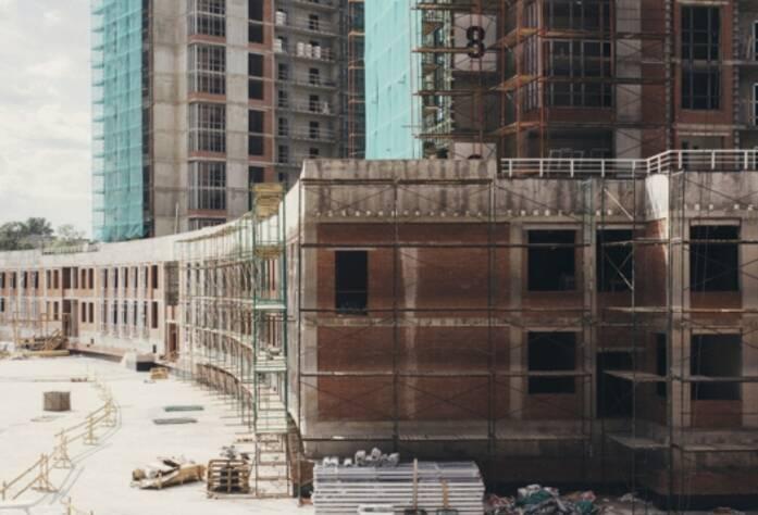 Строительство ЖК «Riverside», ДОУ, июль 2014 г.