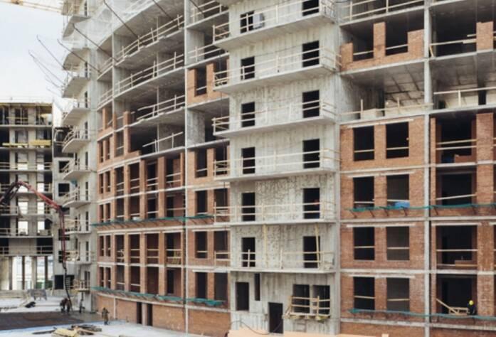 Строительство ЖК «Riverside», корп. А, июль 2014 г.