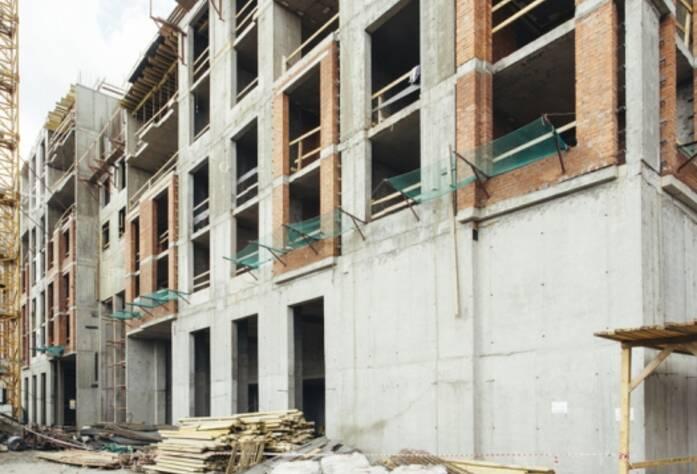 Строительство ЖК «Riverside», корп. Б, июль 2014 г.