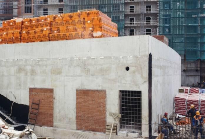 Строительство ЖК «Riverside», корп. Г2, июль 2014 г.