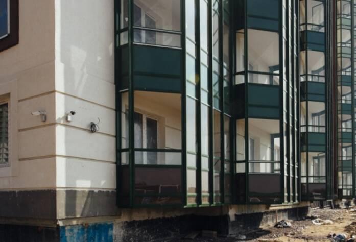 Строительство ЖК «GreenЛандия», корп. 2, июль 2014 г.