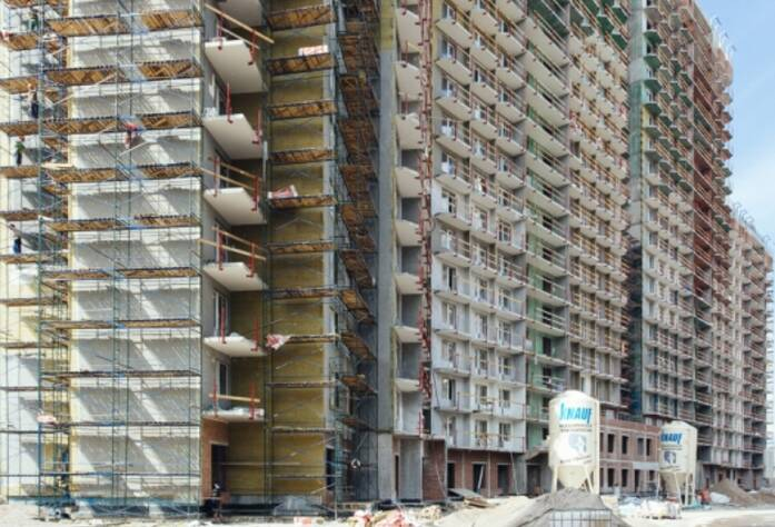 Строительство ЖК «GreenЛандия», корп. 3, июль 2014 г.