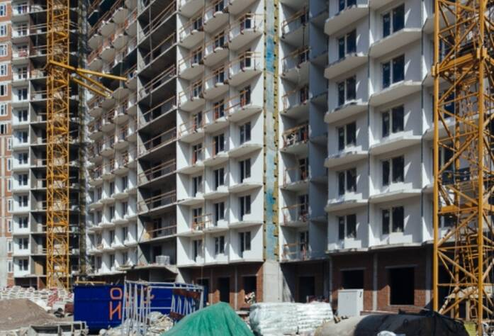 Строительство ЖК «GreenЛандия», корп. 6, июль 2014 г.