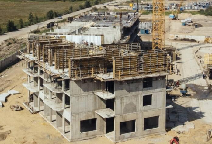 Строительство ЖК «GreenЛандия», корп. 8а, июль 2014 г.