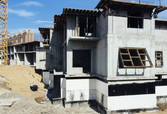 Строительство ЖК «GreenЛандия», корп. 9а, июль 2014 г.