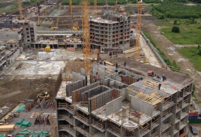 Строительство ЖК «Триумф Парк», III очередь, июль 2014 г.