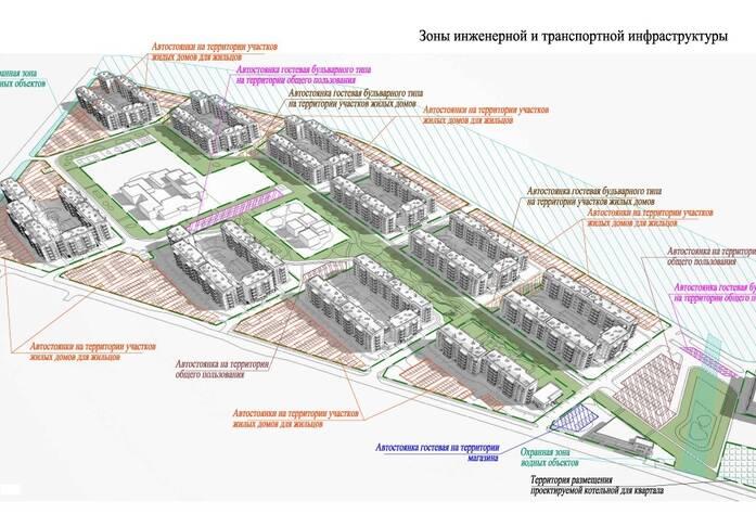 Зоны инженерной и транспортной инфраструктуры в ЖК «Финский городок Юттери»