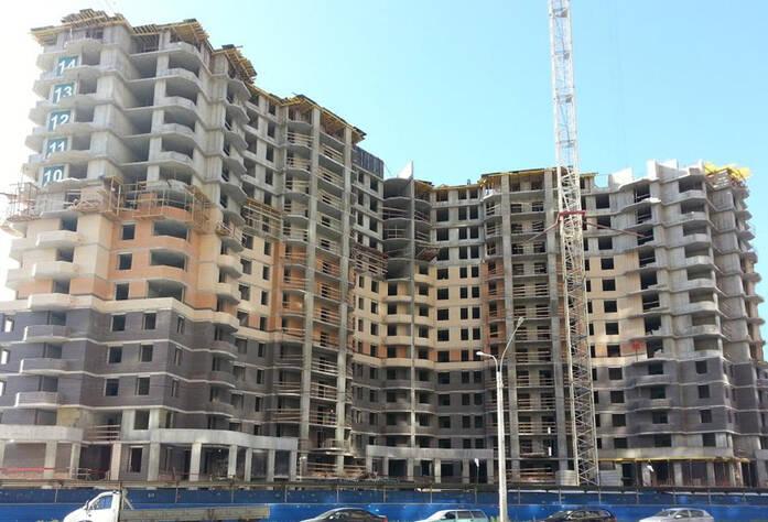 Строительство ЖК «Бумеранг» (сентябрь 2014 г.)