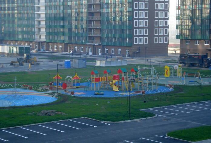 Строительство ЖК «GreenЛандия» (сентябрь 2014)