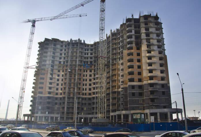 Ход строительства ЖК «Бумеранг» (октябрь 2014 г.)