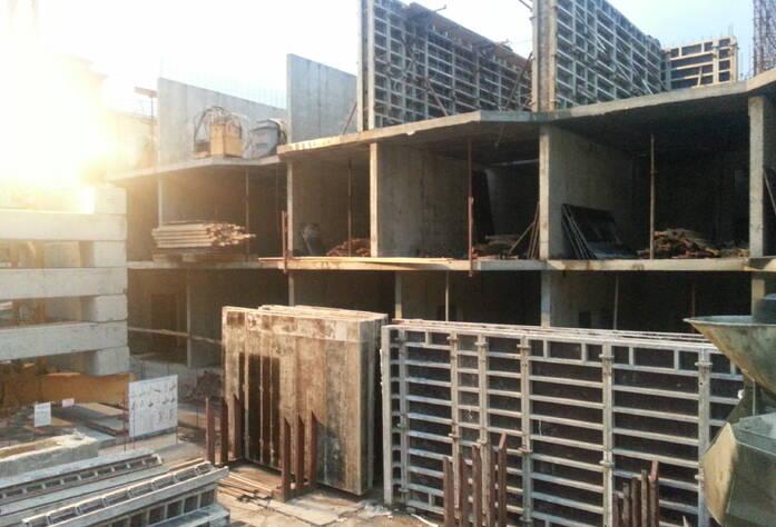 Устройство стен третьего этажа МФК «Нарвский посад»
