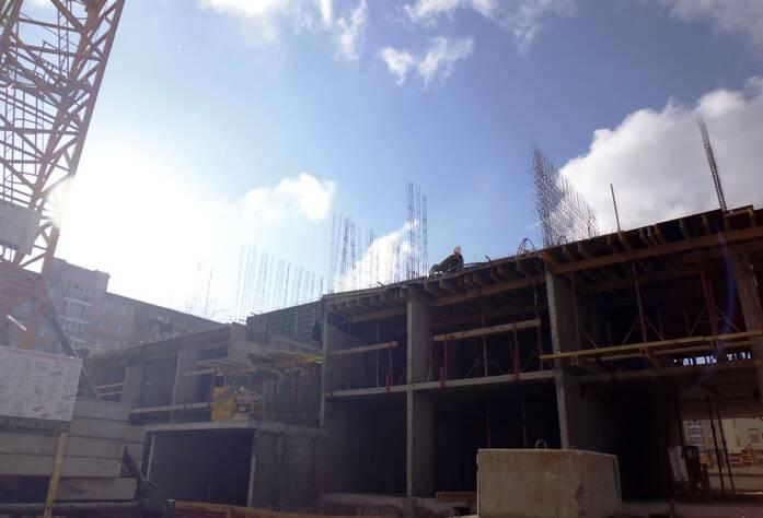Строительство ЖК «Славянка 128» (октябрь 2014)