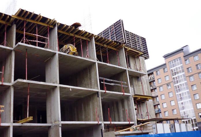 Строительство ЖК «Славянка 128» (ноябрь 2014)