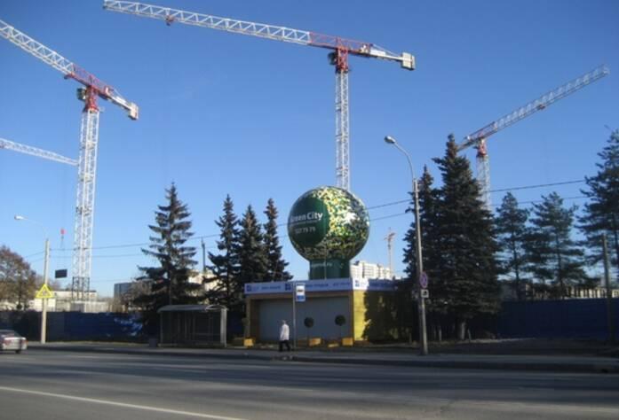 Строительство ЖК «Green City» (октябрь 2014)