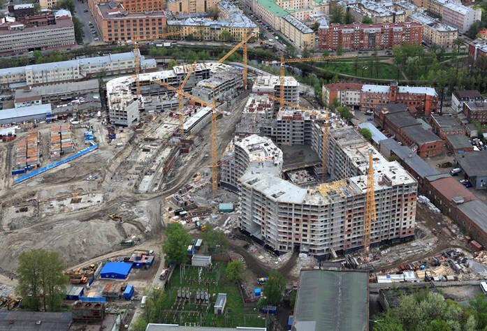 Строительство ЖК «Самоцветы» (май 2014)