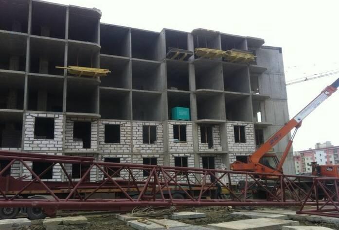 Строительство ЖК «Петергоф Парк» (октябрь 2014)