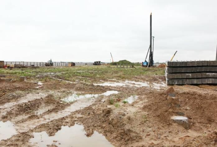 Строительство ЖК «Краски Лета» (август 2014)